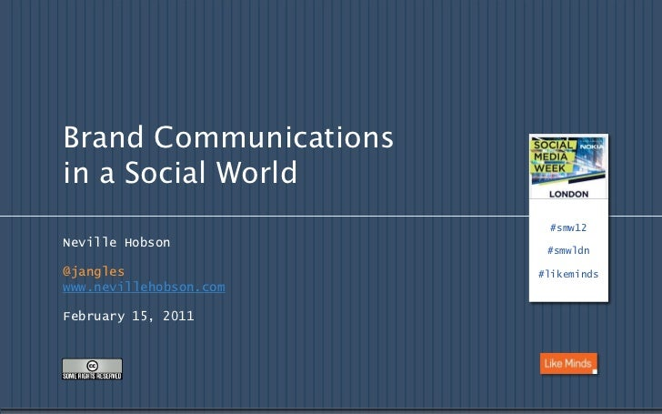 Brand Communications in a Social World