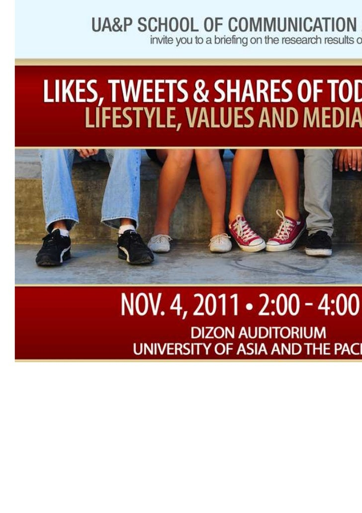 Like, tweets & shares of today´s teens. 2011. philippines
