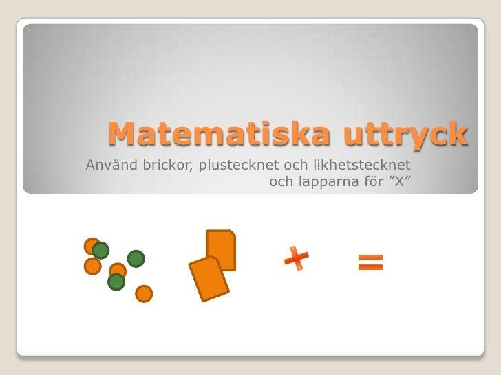 Likhetstecknet ekvation101206