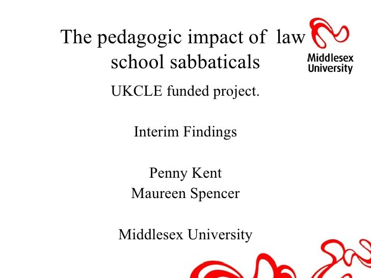The pedagogical impact of law school sabbaticals
