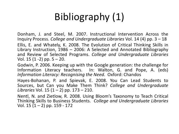 annotated bibliography assignment psychology The length of your annotation will depend on the assignment or on the purpose of your annotated bibliography.