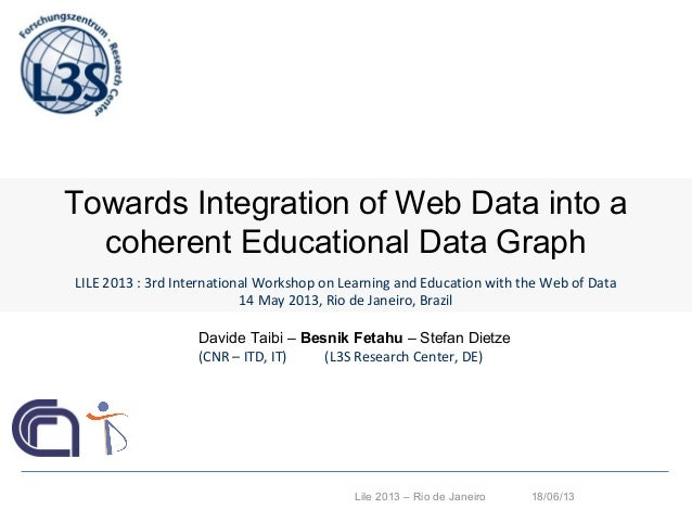 Towards Integration of Web Data into a coherent Educational Data Graph