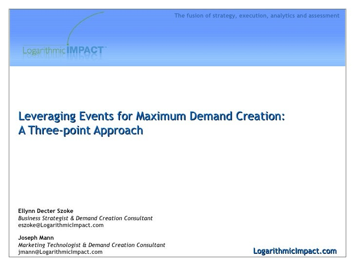 Leveraging Events for Maximum Demand Creation: A Three-point Approach LogarithmicImpact.com