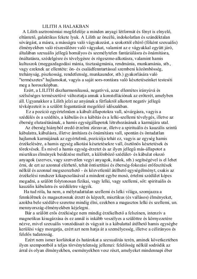 Kozma Szilárd asztrológus: Az emeriség nagy titka a Lilit.: Lilith a halakban