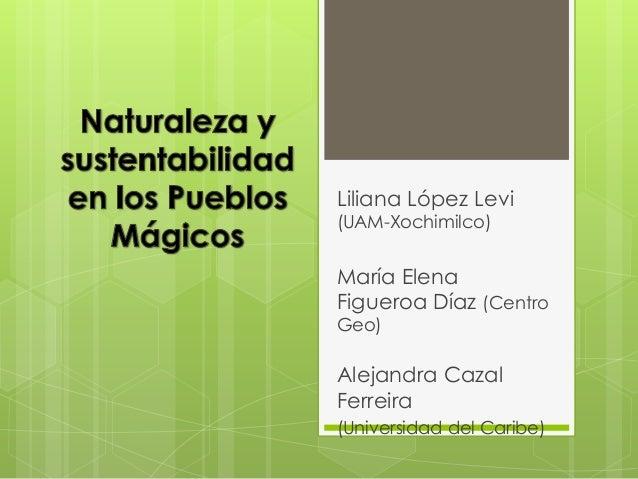 Liliana López Levi (UAM-Xochimilco)  María Elena Figueroa Díaz (Centro Geo)  Alejandra Cazal Ferreira (Universidad del Car...