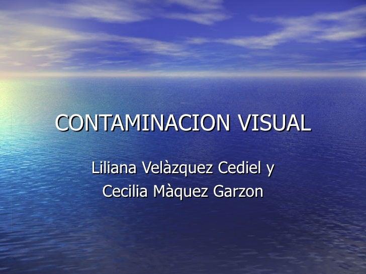 CONTAMINACION VISUAL  Liliana Velàzquez Cediel y    Cecilia Màquez Garzon