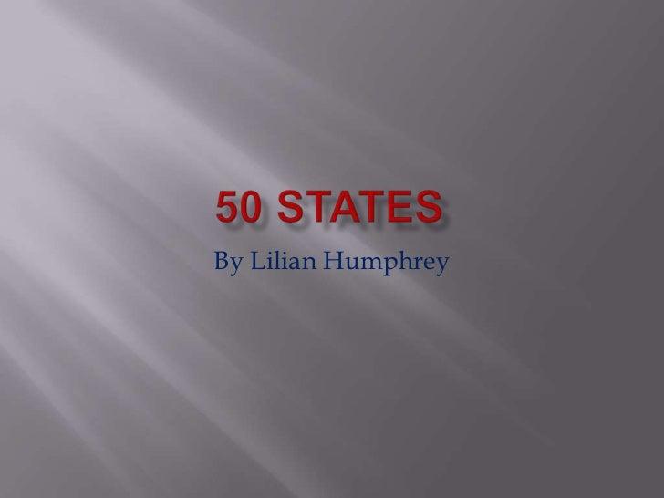 By Lilian Humphrey