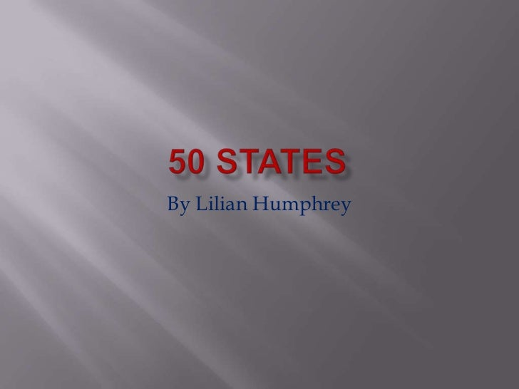 Lilian humphrey 50 states