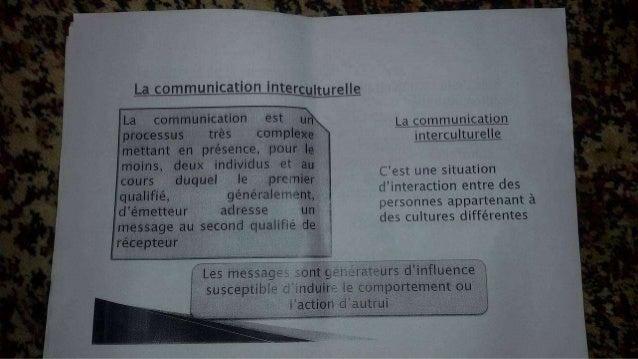 La communication intercuuurelle  ? _                                   La communication est un processus trés complexe met...