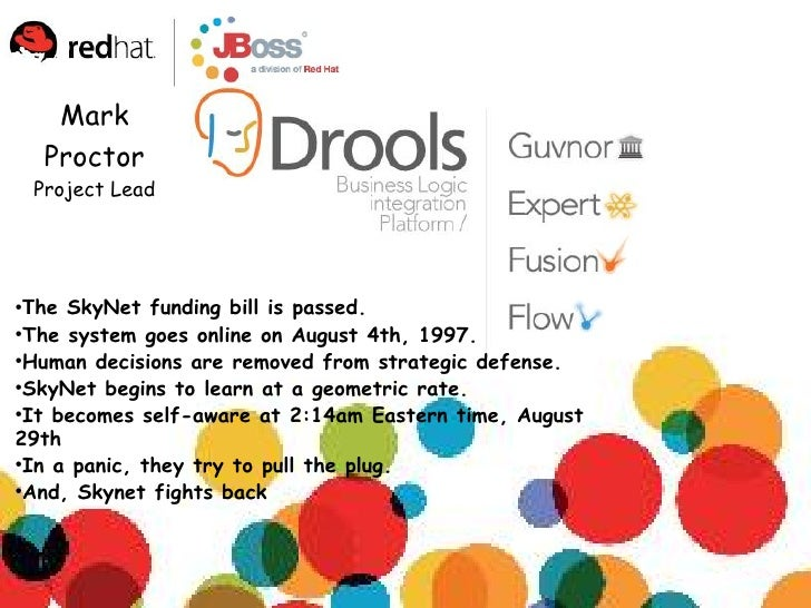 Mark      Proctor     Project Lead     ●   The SkyNet funding bill is passed. ●   The system goes online on August 4th, 19...