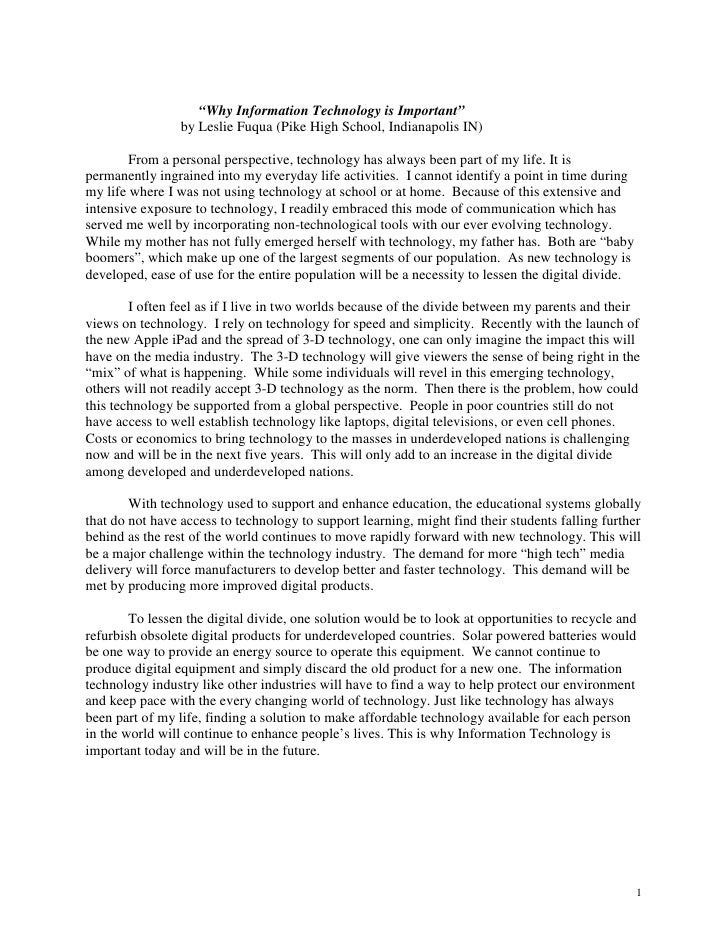 Essay: Eli Lilly Scholarship for BDPA Students, Leslie Fuqua