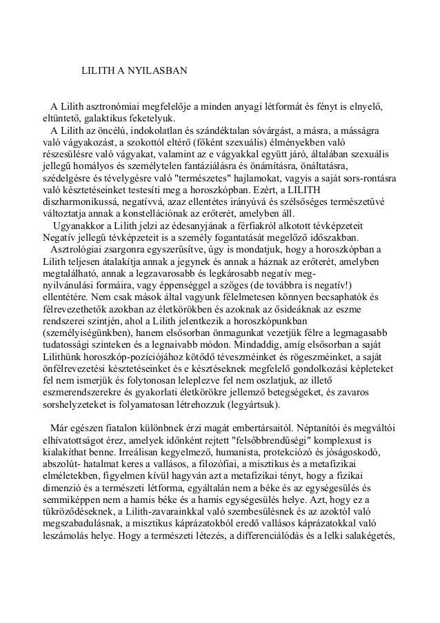 Kozma Szilárd karma-asztrológus: Az emberiség nagy titka a Lilitith: Lilith a Nyilasban