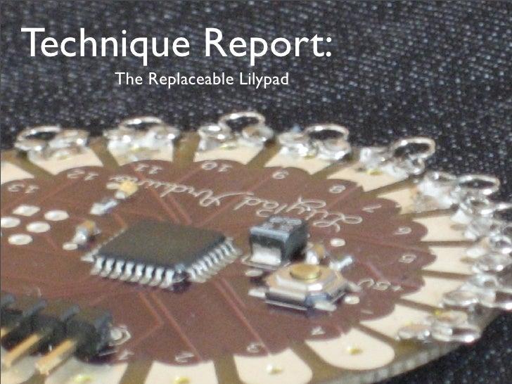 lilypad fabric interface