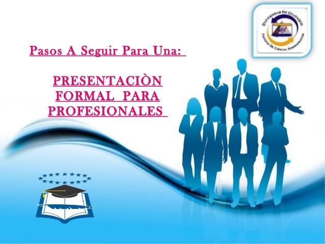 Presentacion de diapositivas para profesionales.
