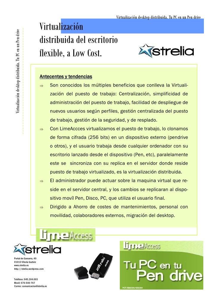Virtualización desktop distribuida. Tu PC en un Pen drive                                                            Virtu...