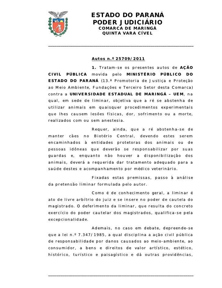 ESTADO DO PARANÁ                             PODER JUDICIÁRIO                                  COMARCA D E MARI NGÁ       ...