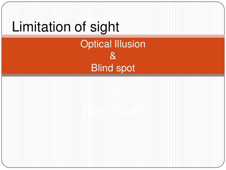 Limitation of sight<br />Optical Illusion& Blind spot& Blind Spot<br />