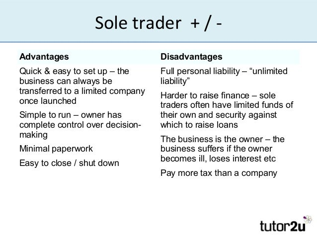 advantages and disadvantages of a private limited company over a sole trader Should you set up a limited company or simply be a sole trader  benefits of  contracting advantages and disadvantages of a limited company  obvious,  but before you make that decision, you need to weigh up the pros and cons  a  limited company, the most important of which is the 'limited liability' outlined  above.
