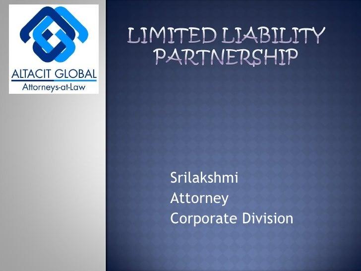 Srilakshmi Attorney Corporate Division