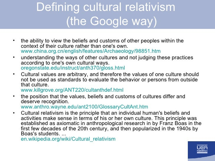 philosophical implications of cultural relativism 18 tile flhients of ~ioral philosophy have accepted the 24 the consequences of taking cultural relativism seriously even if the cultural differences argument is unsound, cultural relativism might still be tme '-'hat would it be this implication of cultural relativism is disturbing because few of us think.