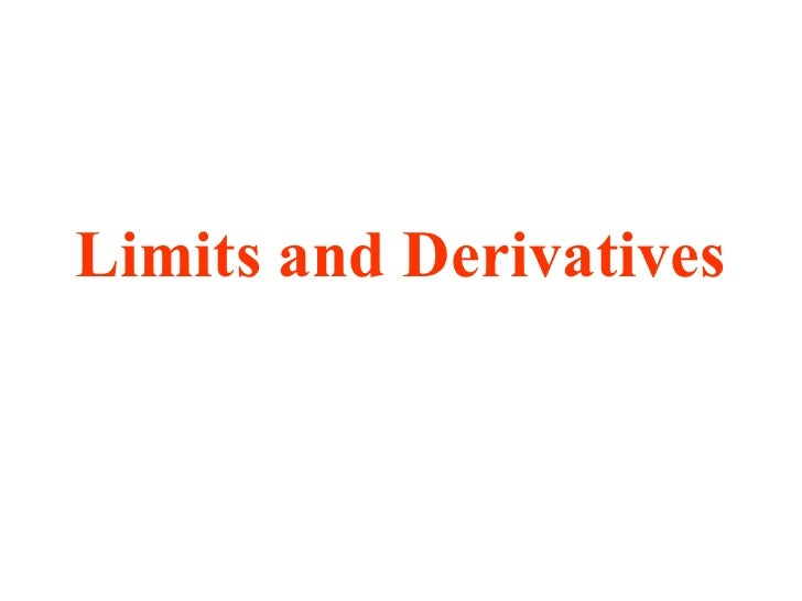 limit and derivative relationship