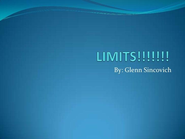 Limits! sincovich
