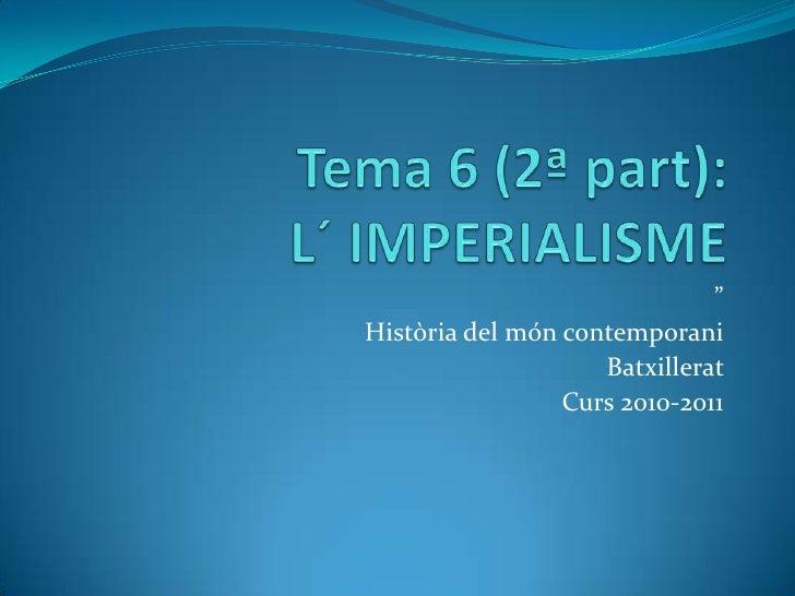 L´ imperialisme
