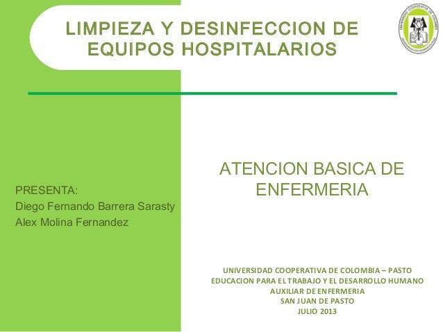 limpieza desinfeccion aparatos respiratorios ucc