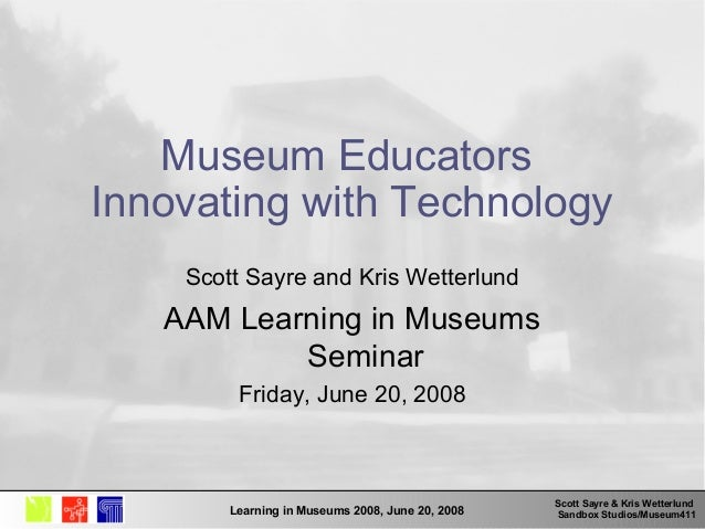 Museum Educators Innovating with Technology