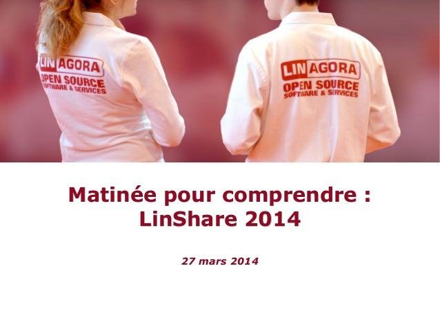 Matinée pour conmrendre consacrée à LinShare.org, application de partage de fichiers sécurisé