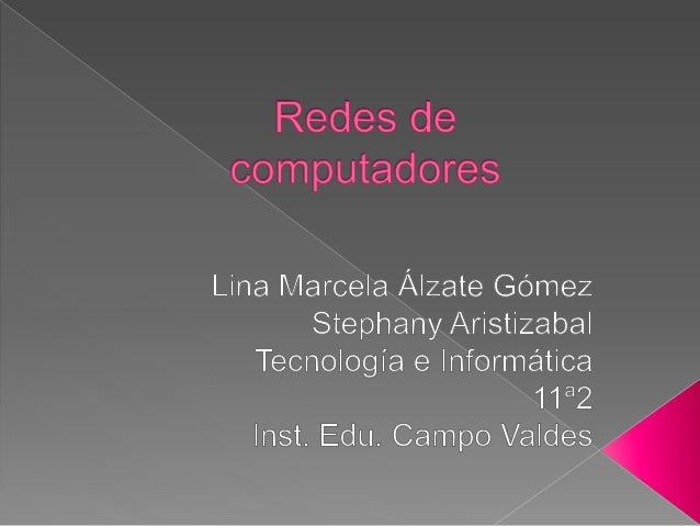 ¿QUÉ ES UNA RED DE  COMPUTADORES?  También llamada red de ordenadores, red de  comunicaciones de datos, es un conjunto de ...
