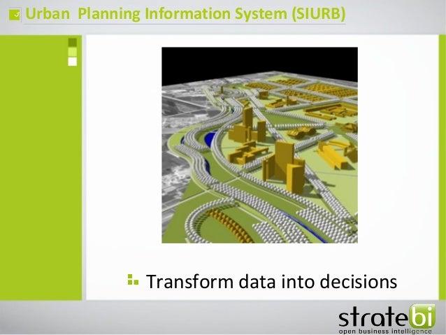 Urban Planning Information System (SIURB)ç Transform data into decisions