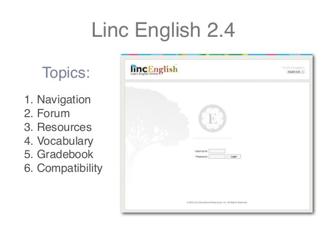 LincEnglish 2.4 Tour