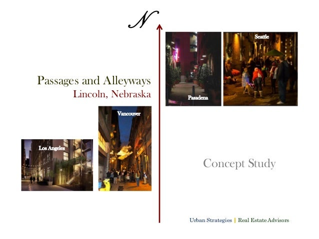 Downtown Lincoln Nebraska alleys and passages study