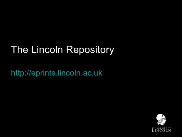The Lincoln Repository  http://eprints.lincoln.ac.uk
