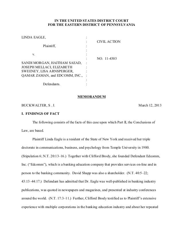 Case 2:11-cv-04303-RB Document 78 Filed 03/12/13 Page 1 of 32                     IN THE UNITED STATES DISTRICT COURT     ...