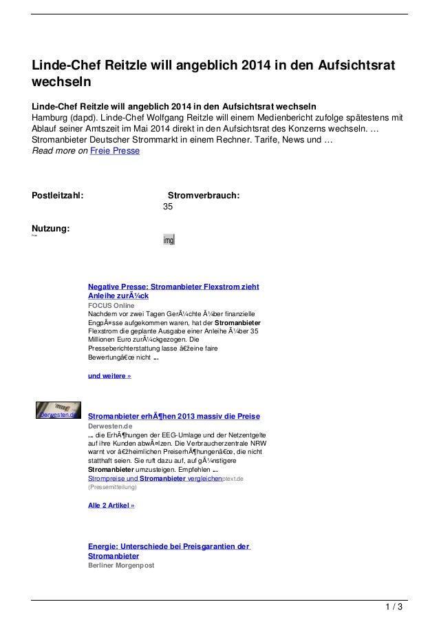 Linde-Chef Reitzle will angeblich 2014 in den AufsichtsratwechselnLinde-Chef Reitzle will angeblich 2014 in den Aufsichtsr...