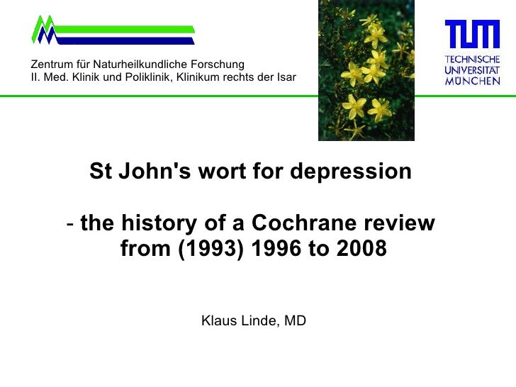 St. John's wort for depression - the history of a Cochrane review from 1996 to 2008
