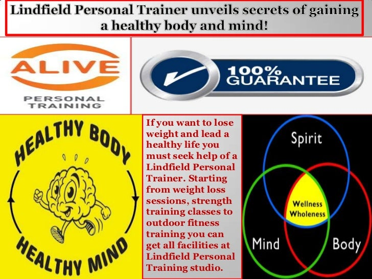 Lindfield personal trainer unveils secrets of gaining a healthy body and mind!
