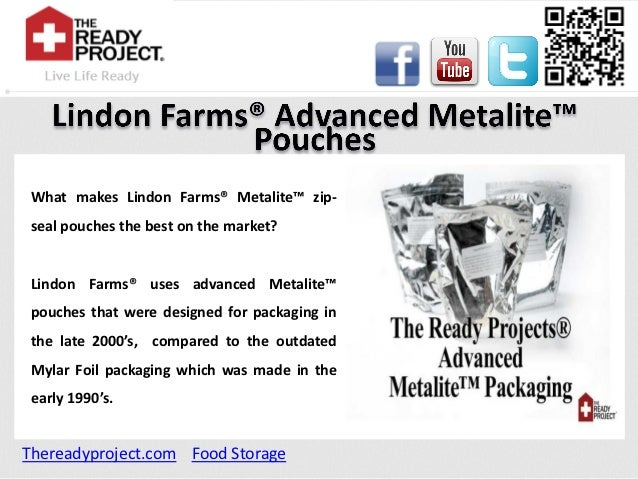 Lindon farms® advanced metalite™ pouches