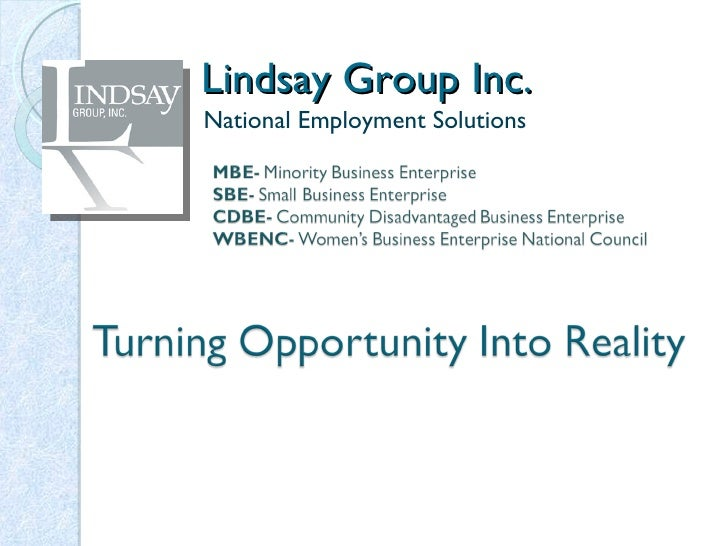 Lindsay Group Inc.  National Employment Solutions