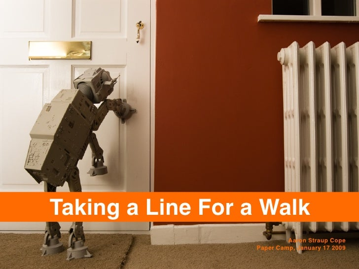 Taking A Line For A Walk