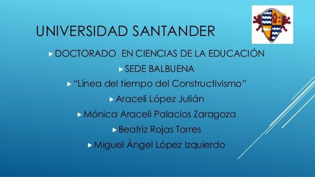 """UNIVERSIDAD SANTANDER  DOCTORADO     EN CIENCIAS DE LA EDUCACIÓN                 SEDE     BALBUENA    """"Línea   del tiem..."""