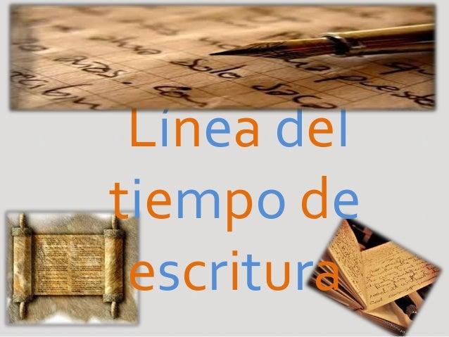 Línea del tiempo de escritura