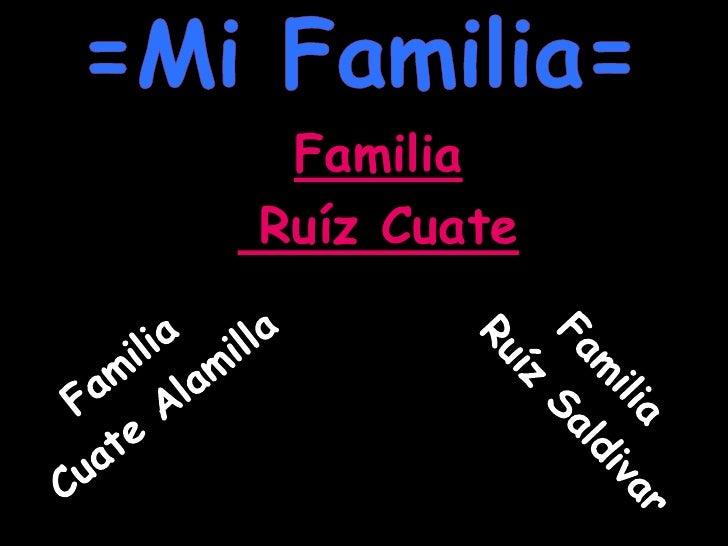 =Mi Familia=<br />Familia <br /> Ruíz Cuate<br />Familia <br /> Ruíz Saldivar<br />Familia <br /> Cuate Alamilla<br />