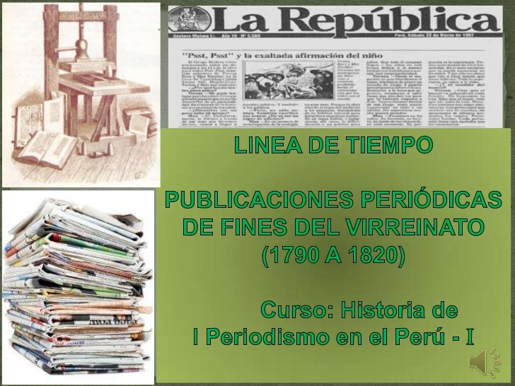 """1790 - """"EL DIARIO DE LIMA""""El 1º de octubre de 1790, aparece un nuevo concepto de periodismo: El   Diario de Lima curioso, ..."""
