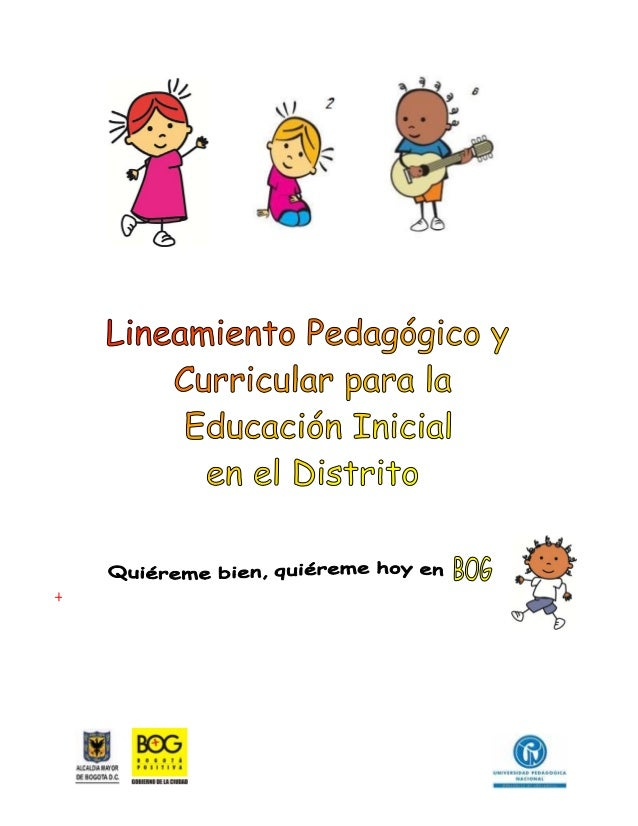 Lineamiento pedagogico curricular educacion inicial bogota for Diseno curricular educacion inicial