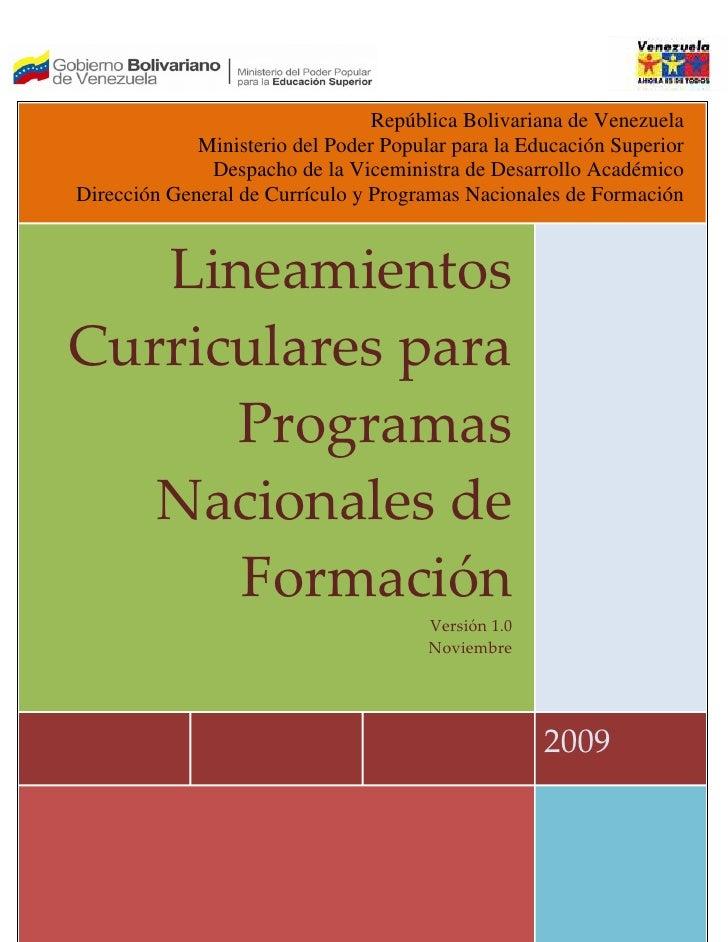 República Bolivariana de Venezuela             Ministerio del Poder Popular para la Educación Superior              Despac...