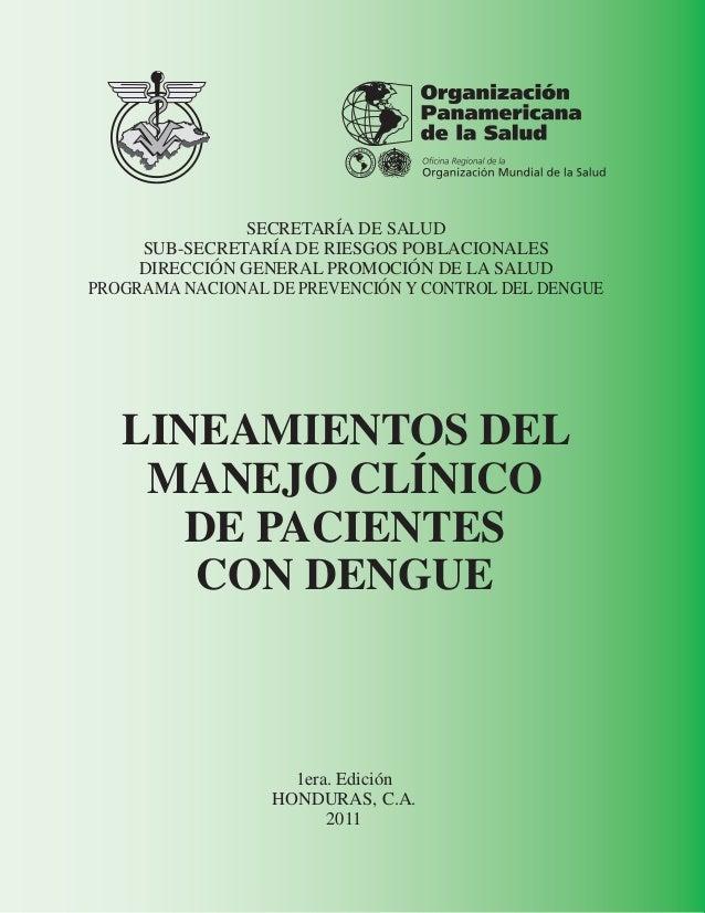 Manejo de Dengue- HONDURAS