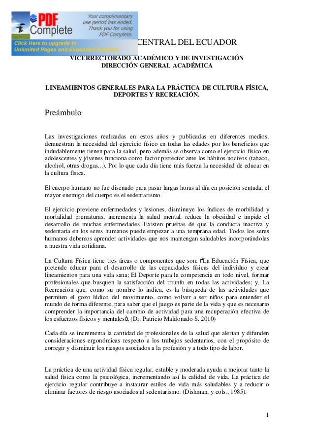 1 UNIVERSIDAD CENTRAL DEL ECUADOR VICERRECTORADO ACADÉMICO Y DE INVESTIGACIÓN DIRECCIÓN GENERAL ACADÉMICA LINEAMIENTOS GEN...
